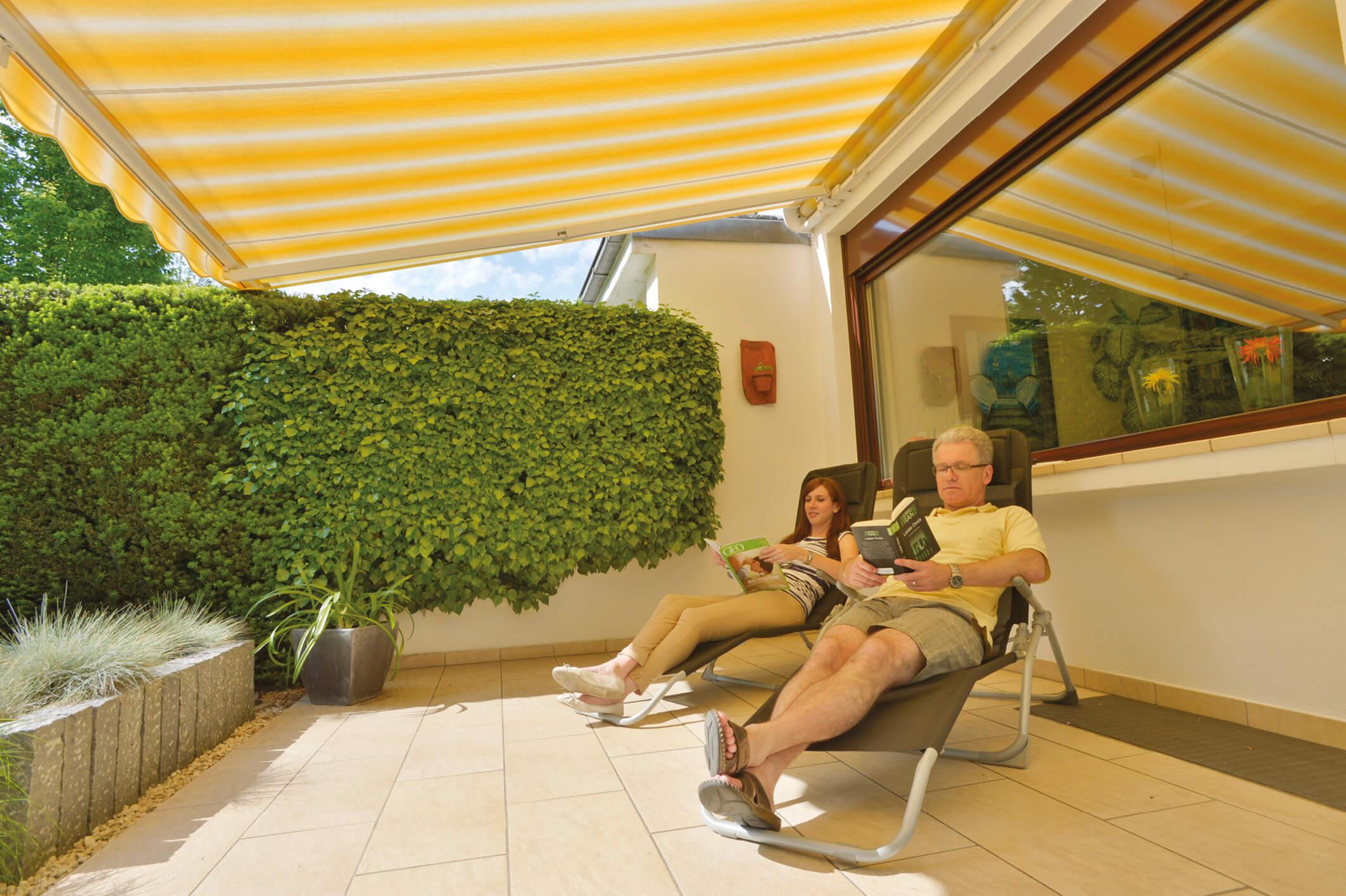 Der perkte Sonnenschutz auf der eigenen Terrasse